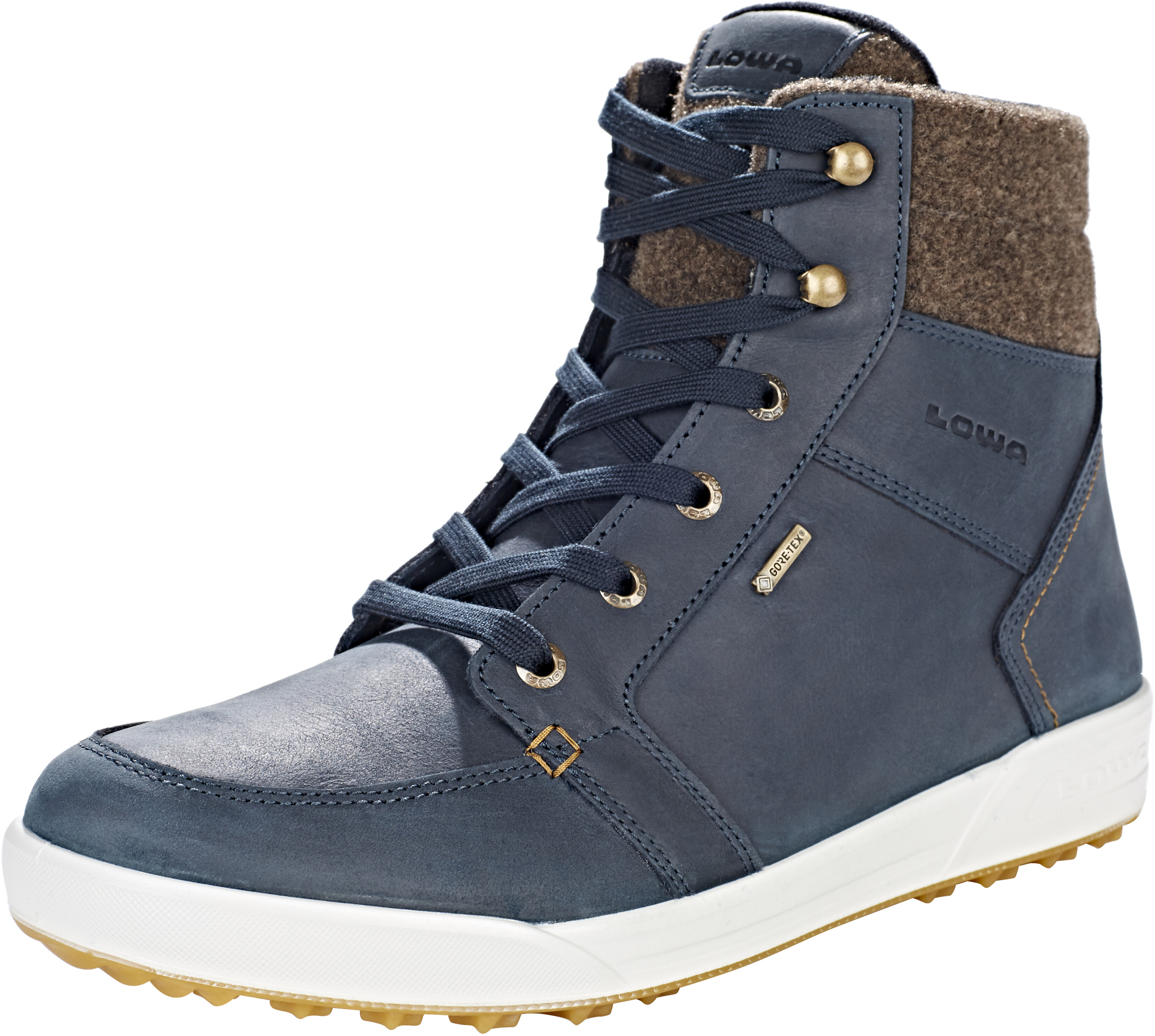 wholesale sales clearance prices half off Lowa Molveno GTX Mid Boots Men navy/brown